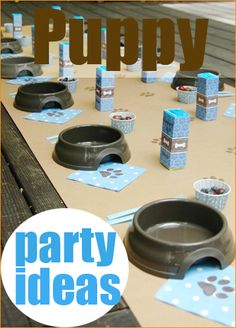 """Puppy Party Ideas.  Great ideas for a boy or girl puppy themed party.  Celebrate man's """"best friend"""" with a special Dog party."""