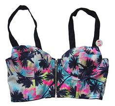 Victoria's Secret PINK Bustier Zipper Front Cage Back Crop Top Palm Trees (Small) Victoria's Secret http://www.amazon.com/dp/B00N6VG81U/ref=cm_sw_r_pi_dp_-ffYub0SY6BHD
