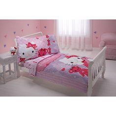Hello Kitty Friends 4 Piece Toddler Bedding Set 5925416,    #Hello_Kitty_5925416