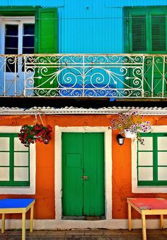 Lefkada island, Ionian Sea, Eptanisa, Greece (by Hercules Milas) Beautiful World, Beautiful Places, Greek House, Door Entryway, Greece Islands, Travel Light, Architecture Details, Ramen, Places To Travel