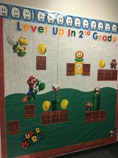 Super Mario Bros. Themed Bulletin Board at Live Laugh Teach First Grade