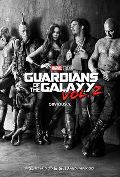 Guardians Of The Galaxy Vol. 2 (Movie Poster) (Karen Gillan as Nebula, Michael Rooker as Yondu Udonta, Zoe Saldana as Gamora, Chris Pratt as Peter Quill / Star-Lord & Dave Bautista as Drax The Destroyer) (Movie Released: Star Lord, Michael Rooker, Em Breve Nos Cinemas, Kino News, Films Marvel, Marvel News, Tommy Flanagan, Guardians Of The Galaxy Vol 2, Guardians 2