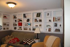 basement with pony wall ideas - Google Search