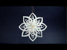 3D Snowflake DIY Tutorial - How to Make 3D Paper Snowflakes for homemade decorations - YouTube