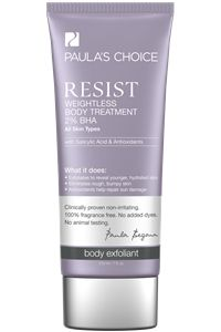 Resist Weightless 2% BHA Body Treatment  #paulaschoice #fragrancefreeproducts #crueltyfreeproducts