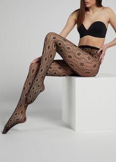 Calzedonia - by Cifra Nylons, Fishnet Tights, Sock Shop, Hosiery, Stockings, Fancy, Leggings, Dresses, Composition