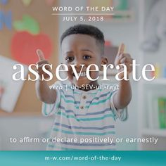 'Asseverate' is the #wordoftheday.#language #merriamwebster #dictionary #wotd #languagelearning