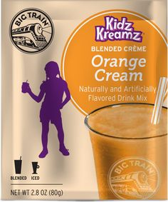 Kidz Kreamz® Orange Cream Refreshing Drinks, Pint Glass, Cream, Orange, Tableware, Creme Caramel, Dinnerware, Tablewares, Place Settings