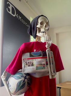 Sent a shiver down our spines when we saw 3D4Medical's Medical Misfits tag rugby team in the Metro Herald #fitness #skeleton #anatomy