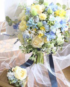 Wedding Flowers, Floral Wreath, Bouquet, Wreaths, Bridal, Wedding Ideas, Yellow, Hair, Home Decor