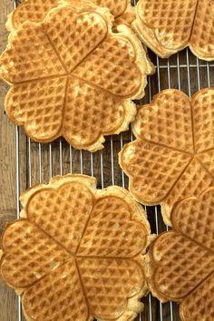 Whole Wheat Waffles with organic honey- energizing and tasty breakfast
