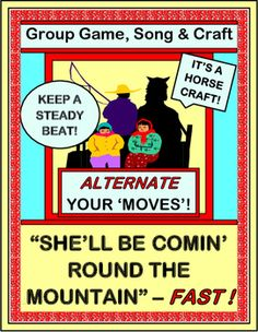 Add a GROUP GAME and CRAFT to this familiar Folk Song! Have fun with ALTERNATING 'MOVES' as your kids create the language for the story. What to eat on that mountain visit? Where to sleep? What to play with? Make a HORSE BUDDY CRAFT to take along! (7 pages) Active 'brain development' from Joyful Noises Express TpT! $
