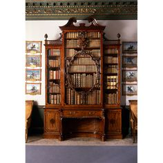 Wilton House ~ Detail of the violin bookcase at Wilton House. It was made for the 10th Earl of Pembroke and is one of Thomas Chippendale's most famous pieces of furniture.