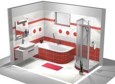 Grafický návrh řešení koupelny