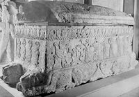 """The Oldest Known Evidence of the Phoenician Alphabet (Circa 1,000 BCE):  The Ahiram Sarcophagus, discovered by the French archaeologist Pierre Montet in 1923 in Jbeil, Lebanon (the historic Byblos), is the oldest known evidence of the Phoenician alphabet. It is preserved in the National Museum of Beirut.     """"Phoenician became one of the most widely used writing systems, spread by Phoenician merchants across the Mediterranean world, where it was assimilated by many other cultures and…"""