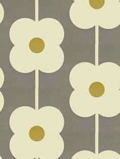 Orla Kiely Giant Abacus Flower Wallpaper - 110409