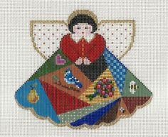 Painted Pony needlepoint crazy quilt angel