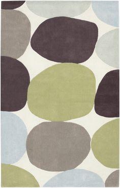 Surya Cosmopolitan COS8809 Green/Brown Contemporary Area Rug