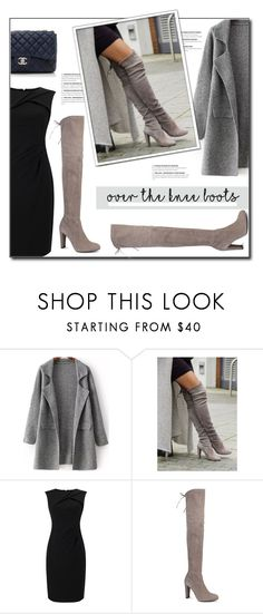"""Fall Footwear: Over-The-Knee Boots"" by court8434 ❤ liked on Polyvore featuring Adrianna Papell, Stuart Weitzman, Chanel and Boots"
