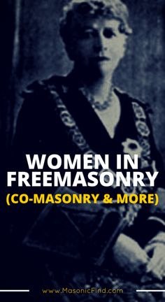 """Are women in Freemasonry allowed? Co-Masonry may be """"frowned upon"""" in the US but it's a huge movement overseas. What's your thoughts on this?"""