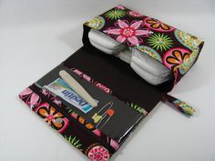 Diaper Clutch with clear zipper pouch Carnival Bloom by purseNmore, $28.00