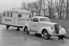 1935 Chevy Coupe And Raybestos Trailer.