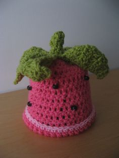 Sweet Strawberry Baby Hat by coriescrafts on Etsy, $15.00