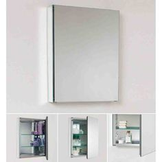 Merveilleux Fresca Single Door Frameless Medicine Cabinet With Two Glass Shelves Mirror  Bathroom Storage Medicine Cabinets Single Door