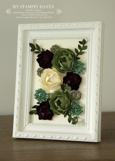 Fun Flower punch Petite Petals punch Bouquet Bigs L die Flower Fair Framelits framed succulent picture Felt Flowers, Diy Flowers, Fabric Flowers, Paper Flowers, Flower Picture Frames, Flower Frame, 3d Paper Crafts, Diy Crafts, Succulent Frame