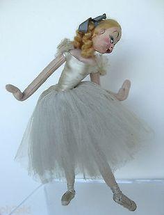"""Vtg Roldan Klumpe Ballerina Doll Barcelona Spain Mid Century 11"""" • CAD 72.26"""