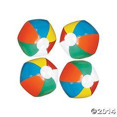 Mini Inflatable Beach Balls - Oriental Trading