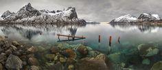 Фьорды Норвегии. панорама #норвегия Автор: Yury Pustovoy (artphoto-tour.com)