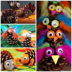 Pine Cone Crafts for Kids Harvest Crafts For Kids, Crafts Fir Kids, Pinecone Crafts Kids, Christmas Crafts For Kids To Make, Preschool Crafts, Diy For Kids, Pinecone Decor, Felt Crafts, Pine Cone Art