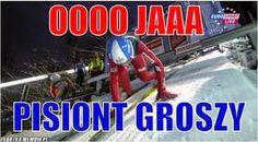 Zbiór zabawnych memów i cytatów skoczków z całego świata. Serdecznie … #losowo # Losowo # amreading # books # wattpad Ski Jumping, The Vamps, Skiing, Haha, Humor, Reading, Cyberpunk, Memes, Funny
