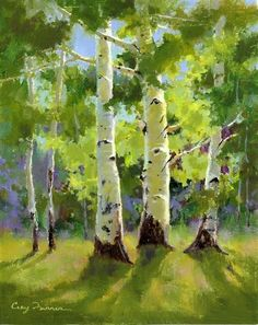 """Summer Splendor"" - by Cecy Turner, Oil #tree #art"