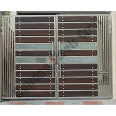 Modern stainless steel main gates design idea fences for Stainless steel driveway gates designs
