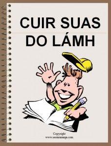 Cuir suas do lámh - Put up your hand.