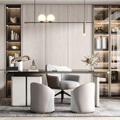 Modern Office Design, Office Interior Design, Office Interiors, Loft Office, Office Workspace, Luxury Office, Living Room Designs, Furniture Design, Office Decor