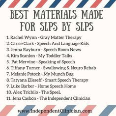 Looking for great speech therapy materials? Here you go! https://www.independentclinician.com/blog/the-best-speech-therapy-materials-made-for-slps-by-slps