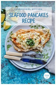 Seafood Pancakes are easy to make and packed with delicious flavours. A recipe for simple crepe-style pancakes filled with a creamy seafood sauce. #pancakes #fish #seafood #shellfish #prawns #scampi #easy #recipe Recipe Using Salmon, Quick Salmon Recipes, Fish Recipes, Easy Dinner Recipes, Seafood Recipes, Easy Dinners, Quick Easy Meals, Burns Supper, Frozen Seafood