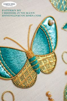Hand Embroidery Art, Bead Embroidery Jewelry, Beaded Embroidery, Cross Stitch Embroidery, Embroidery Designs, Lesage, Gold Work, Ribbon Work, Needlework