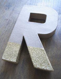DIY // Glitter Dipped Monogram