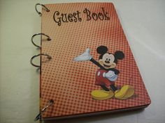 Check out this item in my Etsy shop birthday-guest-book-first-birthday-party #birthday #party #guestbook #ljbminis2021 #etsy #mickeyparty #mickeymouse #kidsparty