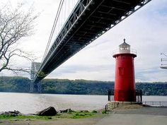Little Red Lighthouse under George Washington Bridge.