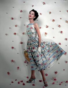 Nancy Berg in Traina Norell for Vogue 1953