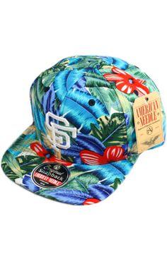 San Francisco Giants Snapback Hat (Floral) by 123SNAPBACKS Dope Hats b50e8ab6a618
