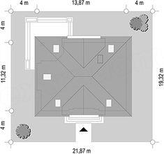 Projekt domu Filip 181,11 m2 - koszt budowy 191 tys. zł - EXTRADOM Bar Chart, House Design, Home, House Building, American Houses, House, Bar Graphs, Homes, Architecture