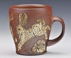 Adorable rabbit mug by @jordanjonespottery   Regram via @charliecummingsgallery