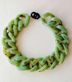Angela Caputi Jade Resin Chain Link Necklace Made in Italy | eBay