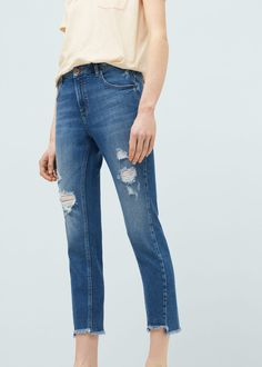 Twister cropped jeans - Jeans for Woman | MANGO Serbia
